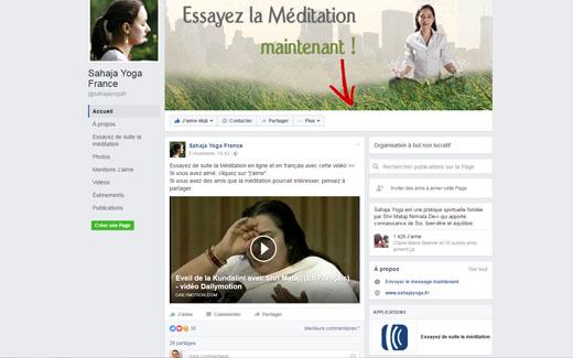 meditation et Facebook